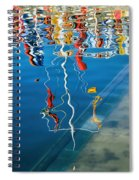 Wibbly Wobbly Flagpole Reflections Spiral Notebook