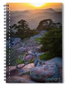 Wichita Mountains Sunset Spiral Notebook