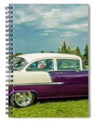 Wicked 1955 Chevy Profile Spiral Notebook