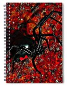 Wicked Widow - Rouge Spiral Notebook