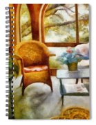 Wicker Chair And Cyclamen Spiral Notebook