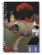 Wickford Village Halloween Ll Spiral Notebook