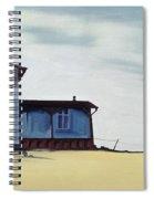 Wide Blue Spiral Notebook