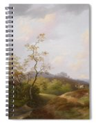 Wide Landscape With Shepherds Spiral Notebook