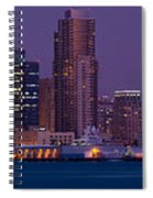 Wide Panoramic Of Scenic San Diego Spiral Notebook