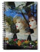 Wig Shop Window Spiral Notebook