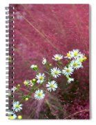 Wild Asters And Muhly Grass Spiral Notebook