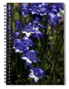 Wild Blue Bells Spiral Notebook