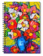 Wild Colorful Flowers Spiral Notebook