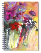 Wild Flowers Bouquets 02 Spiral Notebook