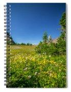 Wild Flowers Glacier National Paintedpark   Spiral Notebook