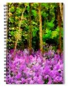 Wild Forest Violets Spiral Notebook