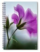 Wild Geranium Abstract Spiral Notebook