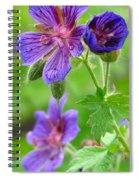 Wild Geranium II Spiral Notebook