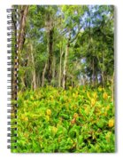 Wild Ginger And Ohia Trees Spiral Notebook