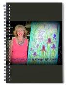 Wild Iris Collage At Glasshopper Gifts Show Spiral Notebook
