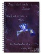 Wild Iris Inspirational Print Spiral Notebook