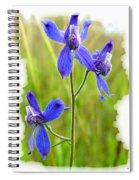 Wild Larkspurs Spiral Notebook