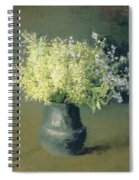Wild Lilacs And Forget Me Nots Spiral Notebook