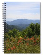 Wild Lilies With A Mountain View Spiral Notebook