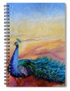 Wild Peacock Spiral Notebook