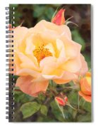 Wild Rose Spiral Notebook
