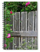 Wild Roses And Weathered Fence Spiral Notebook