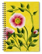 Wild Roses On Yellow Spiral Notebook