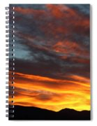 Wild Sunrise Over The Mountains Spiral Notebook