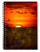 Wild Sunset Spiral Notebook