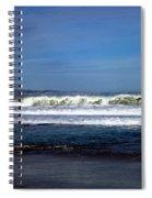 Wild Surf At Seaside Beach Spiral Notebook