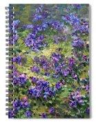 Wild Violets  Spiral Notebook