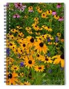 Wildflower Gold Spiral Notebook
