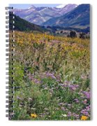Wildflowers And Mountains  Spiral Notebook