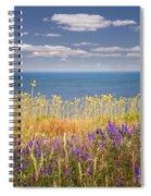 Wildflowers And Ocean Spiral Notebook