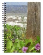 Wildflowers At The Beach Spiral Notebook
