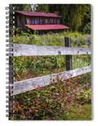 Wildflowers At The Fence Spiral Notebook