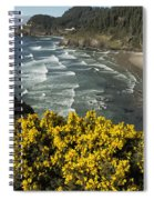 Wildflowers On An Atypical Winter's Day On The Oregon Coast Spiral Notebook