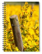 Wildflowers On Fence Post Spiral Notebook