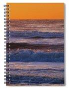 Wildwood Beach Golden Sky Spiral Notebook