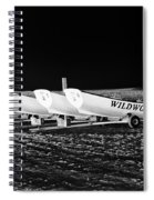 Wildwood Lifeboats At Night In Black And White Spiral Notebook