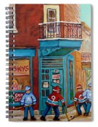 Wilensky Montreal-fairmount And Clark-montreal City Scene Painting Spiral Notebook