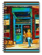 Wilenskys Art Famous Blue Door Posters Prints Cards Originals Commission Montreal Painting Cspandau  Spiral Notebook