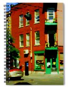 Wilenskys Famous Light Lunch Diner Corner Clark And Fairmount Montreal City Scene Carole Spandau Spiral Notebook
