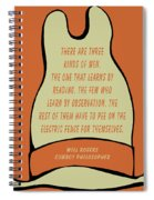 Will Rogers Cowboy Hat Spiral Notebook