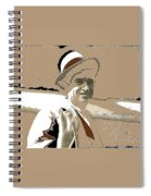 Will Rogers Informal Portrait Unknown Photographer Or Location 1924-2014  Spiral Notebook