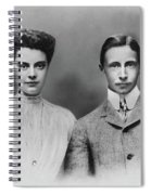 William And Cecilie, C1905 Spiral Notebook