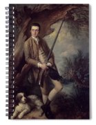 William Poyntz Of Midgham And His Dog Amber Oil On Canvas Spiral Notebook