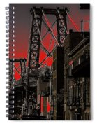 Williamsburg Bridge Abstract Spiral Notebook