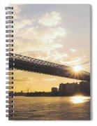 Williamsburg Bridge - Sunset - New York City Spiral Notebook